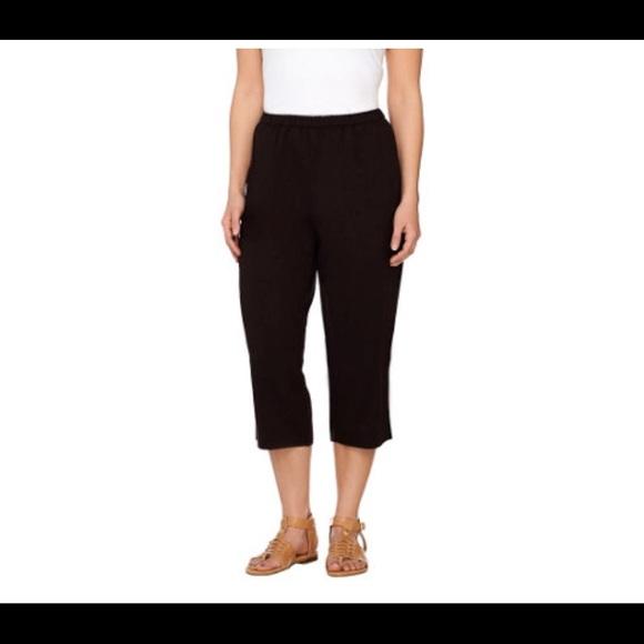 Susan Graver Pants Linen Relaxed Fit Capri Poshmark